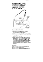 Instruction Manual for Sealey AK402 Circuit Tester 6/12/24V
