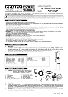 Instruction Manual for Sealey AK450DP Pump-Away Station Air Powered