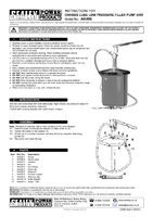 Instruction Manual for Sealey AK456 Chassis Lube Filler Pump 12.5kg Extra Heavy-Duty