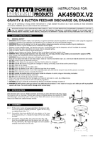 Instruction Manual for Sealey AK459DX Mobile Oil Drainer with Probes 90ltr Air Discharge