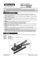 Instruction Manual for Sealey AK5063 Pipe Flaring Tool Kit