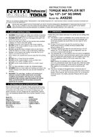 Instruction Manual for Sealey Ak6290 Torque Multiplier Set 7pc 1/2