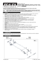 Instruction Manual for Sealey Ak98944 Windscreen Removal/installation Tool