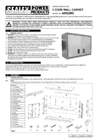 Instruction Manual for Sealey AP02WC Wall Cabinet 2 Door