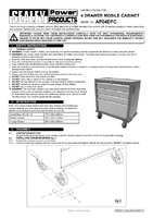 Instruction Manual for Sealey AP04DFC Mobile Cabinet 4 Drawer