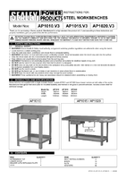 Instruction Manual for Sealey AP1020 Workbench Steel 2mtr with 1 Drawer