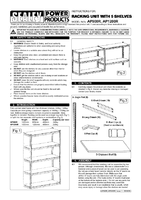 Instruction Manual for Sealey AP1200R Racking Unit With 5 Shelves 220kg Capacity Per Level