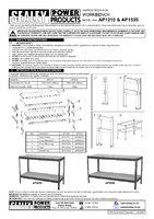 Instruction Manual for Sealey AP1210 Workbench 1.2mtr Steel Wooden Top