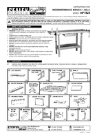 Instruction Manual for Sealey AP1520 Woodworking Bench 1.52mtr