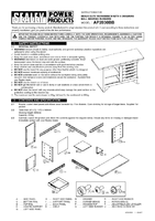 Instruction Manual for Sealey AP2030BB Workbench with 5 Drawers Ball Bearing Runners Heavy-Duty