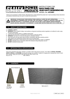 Instruction Manual for Sealey AP20BP Back Panel for Heavy-Duty Workbenches