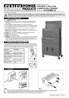 Instruction Manual for Sealey AP2200BB Topchest & Rollcab Combination 6 Drawer with Ball Bearing Runners - Red/Grey