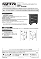 Instruction Manual for Sealey AP22505BB Rollcab 5 Drawer with Ball Bearing Runners - Red/Grey