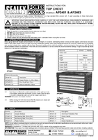 Instruction Manual for Sealey AP2401 Topchest 4 Drawer with Ball Bearing Runners