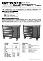 Instruction Manual for Sealey AP2418 Mobile Workstation 8 Drawer with Ball Bearing Runners