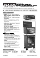 Instruction Manual for Sealey Ap26479to Rollcab 7 Drawer With Ball Bearing Runners - Orange