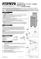Instruction Manual for Sealey Ap28104 Topchest 4 Drawer Retro
