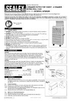 Instruction Manual for Sealey Ap28204 Rollcab 4 Drawer Retro