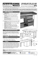 Instruction Manual for Sealey AP3 3 Drawer Unit for AP10 & AP30 Series Benches