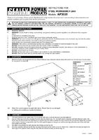 Instruction Manual for Sealey AP3020 Workbench Steel 2mtr with 1 Drawer