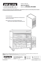 Instruction Manual for Sealey AP33589 Hang-On Chest 8 Drawer with Ball Bearing Runners - Red