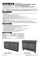 Instruction Manual for Sealey Ap5213t Rollcab 13 Drawer With Ball Bearing Runners - Red