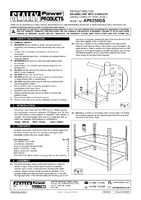 Instruction Manual for Sealey AP6350GS 5 Shelf Racking Unit 350kg Capacity Per Level