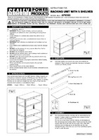 Instruction Manual for Sealey AP6500 Racking Unit With 5 Shelves 500kg Capacity Per Level