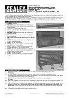 Instruction Manual for Sealey Ap6612 Rollcab 12 Drawer With Ball Bearing Runners Heavy-duty - Red