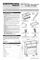 Instruction Manual for Sealey AP705MB Mobile Tool & Parts Trolley - Black
