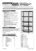Instruction Manual for Sealey Ap7150c Corner Racking Unit 5 Level 150kg Capacity Per Level