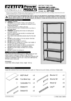 Instruction Manual for Sealey Ap7200 Racking Unit 5 Level 200kg Capacity Per Level