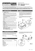 Instruction Manual for Sealey AP920M Mobile Tool & Parts Trolley