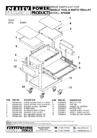 Parts List for Sealey AP920M Mobile Tool & Parts Trolley