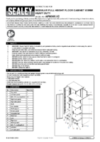 Instruction Manual for Sealey Apms05 Modular Full Height Floor Cabinet 930mm Heavy-duty