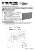 Instruction Manual for Sealey APSPB Steel Pegboard Pack of 2