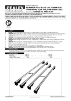Instruction Manual for Sealey Arb135 Aluminium Roof Bars 1350mm For Traditional Roof Rails 90kg Max Load