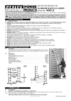 Instruction Manual for Sealey Ascl2 Aluminium Scaffold Ladder 4-way En 131