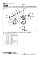 Parts List for Sealey ASV100 Vice 100mm All Steel