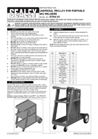 Instruction Manual for Sealey BTR4 Universal Trolley for Portable MIG Welders