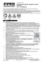Instruction Manual for Sealey Ch2013 Ceramic Fan Heater 1500w/230v 2 Heat Settings With Thermostat