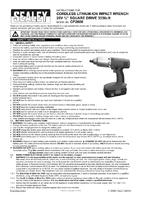 Instruction Manual for Sealey Cp2600 Cordless Lithium-ion Impact Wrench 26v 1/2