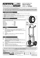 Instruction Manual for Sealey CST801 Sack Truck with Pneumatic Tyres 200kg Folding