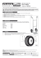 Instruction Manual for Sealey CST979 Sack Truck Pneumatic Tyres Aluminium 120kg Capacity
