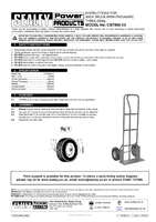 Instruction Manual for Sealey CST988 Sack Truck with Pneumatic Tyres 250kg Capacity