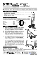 Instruction Manual for Sealey CST989 Sack Truck 3-in-1 with Pneumatic Tyre 250kg Capacity