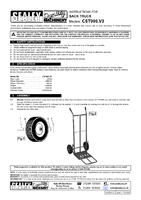 Instruction Manual for Sealey CST990 Sack Truck with Foldable Toe 250kg Capacity