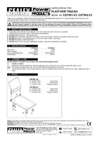 Instruction Manual for Sealey CST991 Platform Truck 150kg Capacity