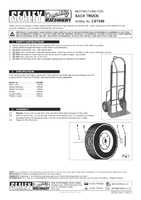 Instruction Manual for Sealey CST998 Sack Truck Pneumatic Tyres 300kg Capacity