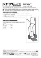 Instruction Manual for Sealey CST999 Sack Truck Pneumatic Tyres 300kg Capacity